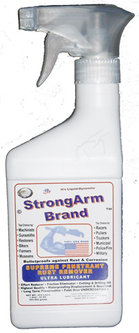 StrongArm Brand Products Co Pint Bottle.